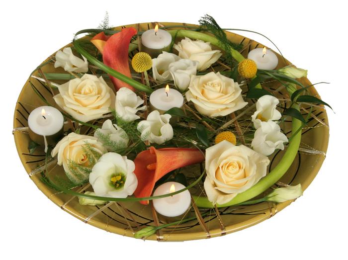 Романтическая флористическая композиция