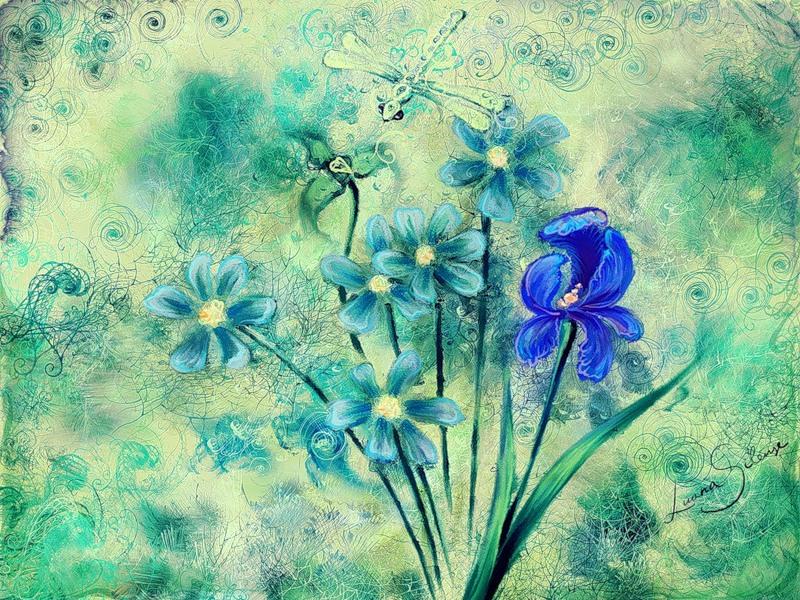 рисунки и названия растений луга