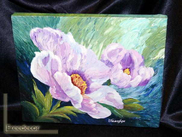картины цветы своими руками