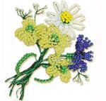 поделки цветы из бисера, фото поделки цветы