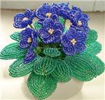 поделки цветы из бисера, цветы фото