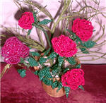 поделки из бисера, цветок роза из бисера