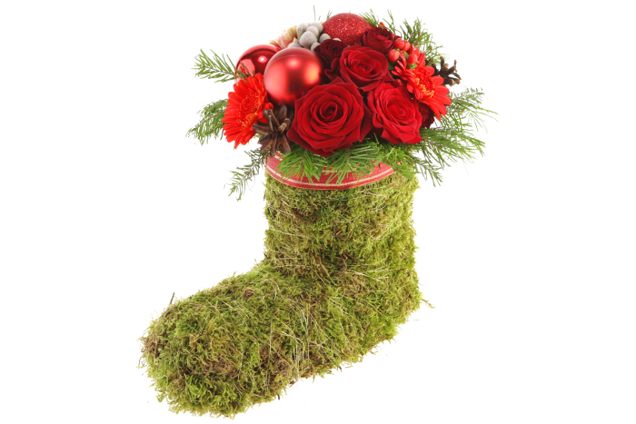 Мастер-класс: Новогодний носочек из мха