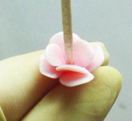 Как сделать серьги Сакура из пластики