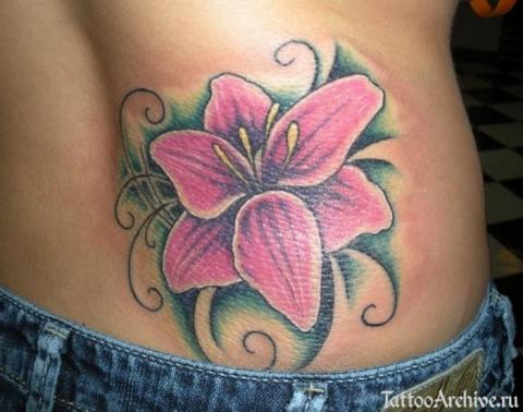 Татуировки с цветами