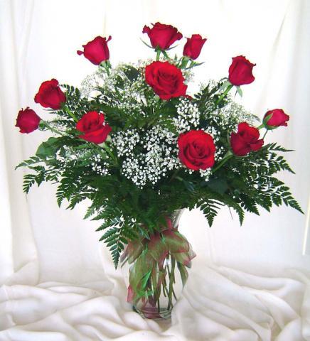 Букеты красных роз фото