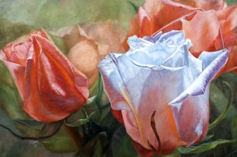 Живопись цветы: Festive Roses