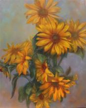 Живопись цветы: Cool Sunflowers