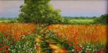 Цветок живопись: Дорога в поле. Художник: Маркчева Елена